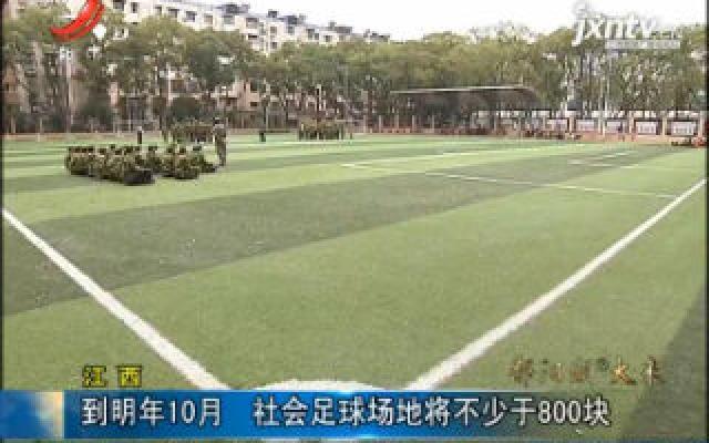 江西:到2020年10月 社会足球场地将不少于800块
