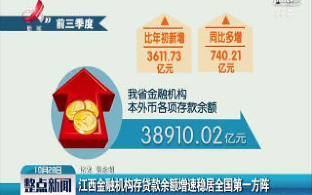 江西金融机构存贷款余额增速稳居全国第一方阵