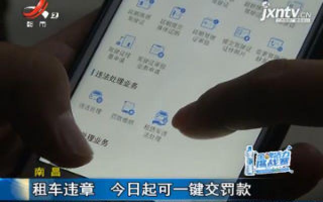 南昌:租车违章 11月13日起可一键交罚款