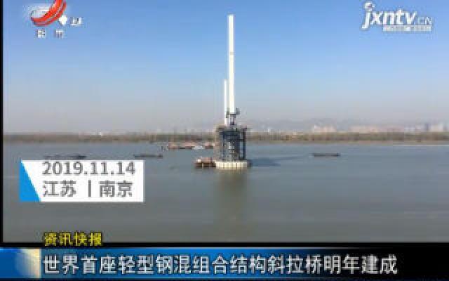 江苏南京:世界首座轻型钢混组合结构斜拉桥2020年建成