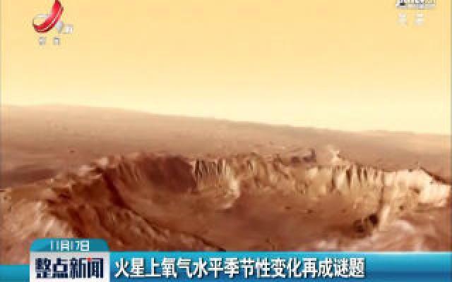 火星上氧气水平季节性变化再成谜题