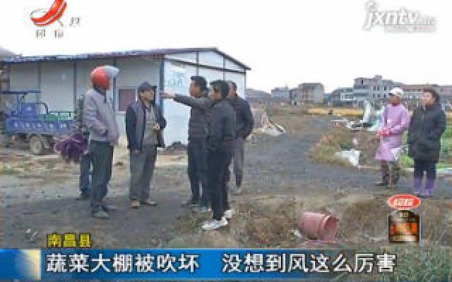南昌县:蔬菜大棚被吹坏 没想到风这么厉害