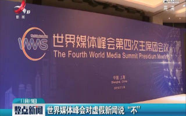 """上海:世界媒体峰会对虚假新闻说""""不"""""""