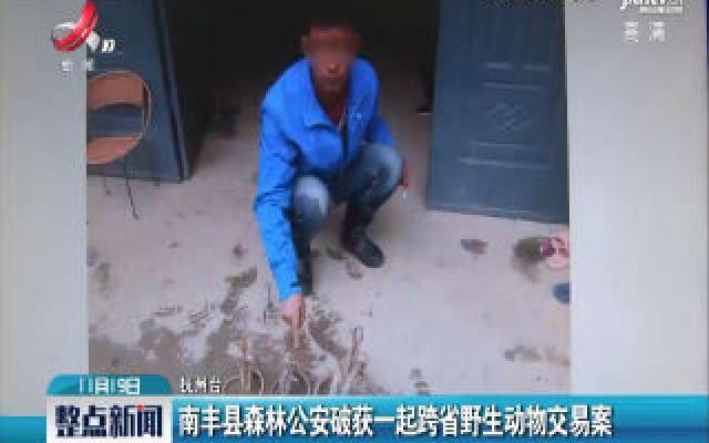 南丰县森林公安破获一起跨省野生动物交易案