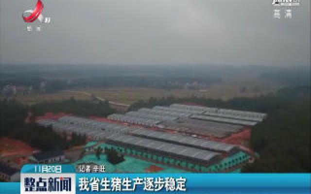 江西省生猪生产逐步稳定