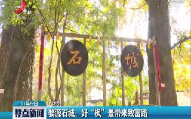 """婺源石城:好""""枫""""景带来致富路"""