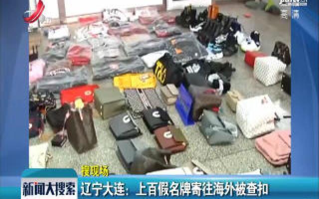 辽宁大连:上百假名牌寄往海外被查扣