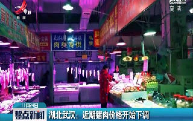 湖北武汉:近期猪肉价格开始下调