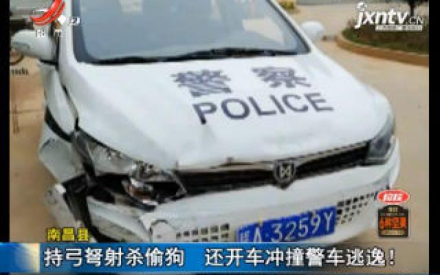 南昌县:持弓弩射杀偷狗 还开车冲撞警车逃逸!