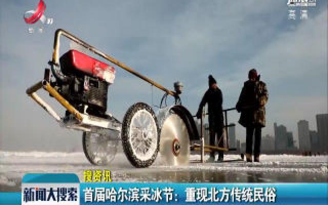 首届哈尔滨采冰节:重现北方传统民俗