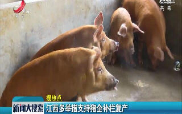 江西多举措支持猪企补栏复产
