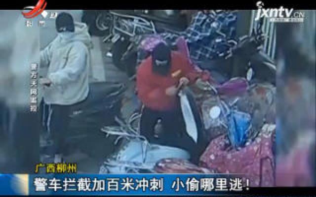 广西柳州:警车拦截加百米冲刺 小偷哪里逃!