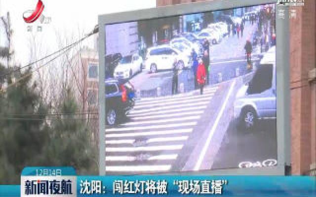 """沈阳:闯红灯将被""""现场直播"""""""