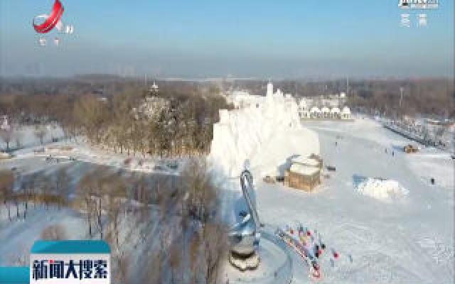 哈尔滨雪博会:雪雕是怎样创作的?