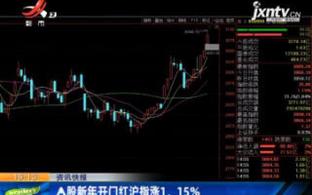 A股新年开门红沪指涨1. 15%