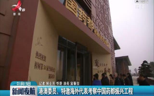 港澳委员、特邀海外代表考察中国药都振兴工程
