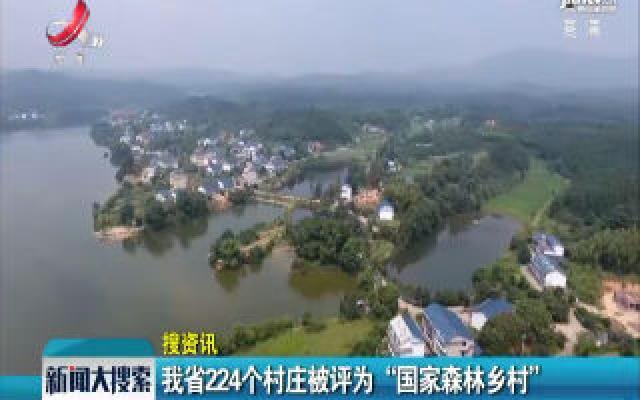 """江西省224个村庄被评为""""国家森林乡村"""""""