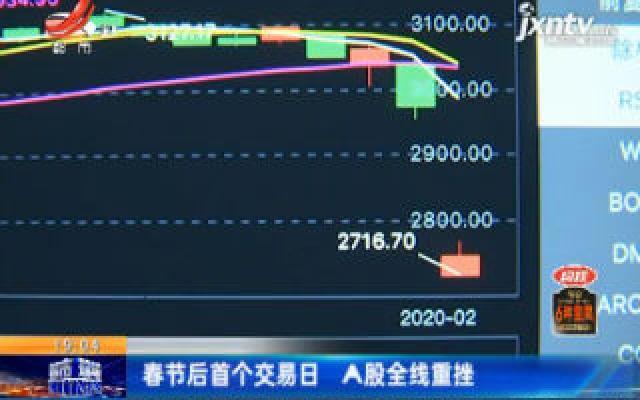 春节后首个交易日 A股全线重挫