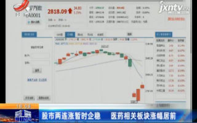 股市两连涨暂时企稳 医药相关板块涨幅居前