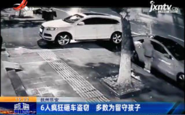 抚州乐安:6人疯狂砸车盗窃 多数为留守孩子