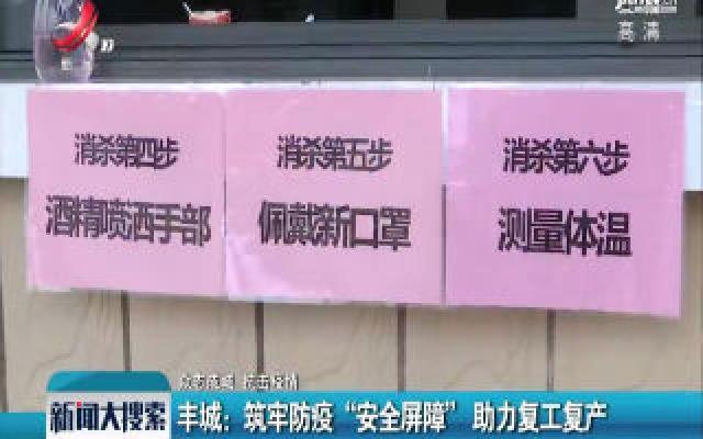 """【众志成城 抗击疫情】丰城:筑牢防疫""""安全屏障""""助力复工复产"""