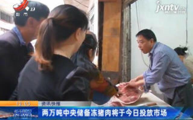 两万吨中央储备冻猪肉将于2月21日投放市场
