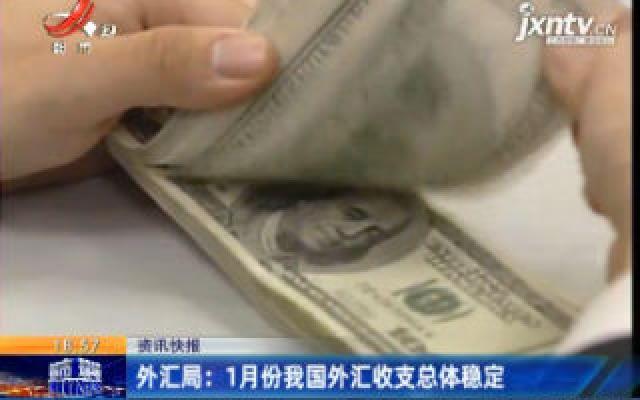 外汇局:1月份我国外汇收支总体稳定