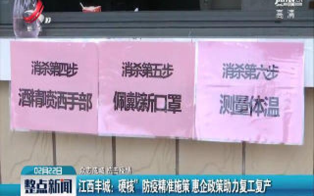 """【众志成城 抗击疫情】江西丰城:""""硬核""""防疫精准实施 惠企政策助力复工复产"""