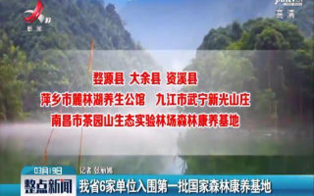 江西省6家单位入围第一批国家森林康养基地