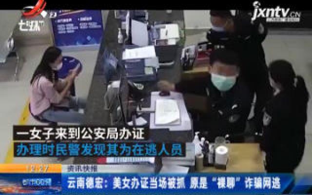 """云南德宏:美女办证当场被抓 原是""""裸聊""""诈骗网逃"""