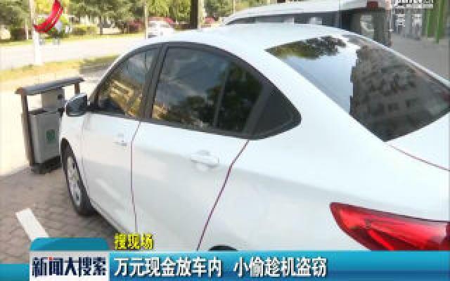 【搜现场】上饶:万元现金放车内 小偷趁机盗窃