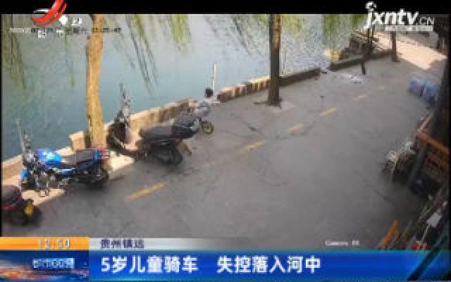 贵州镇远:5岁儿童骑车 失控落入河中