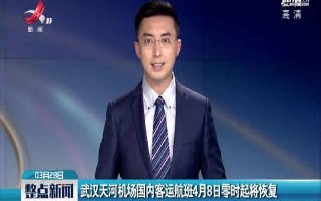 武汉天河机场国内客运航班4月8日零时起将恢复