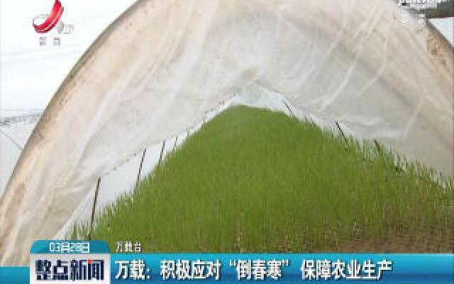 """万载:积极应对""""倒春寒"""" 保障农业生产"""
