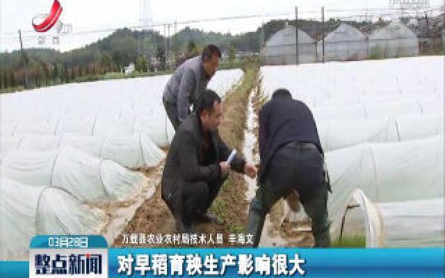 """万载:积极应对""""倒春寒""""保障农业生产"""