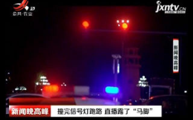 """黑龙江:撞完信号灯跑路 直播露了""""马脚"""""""