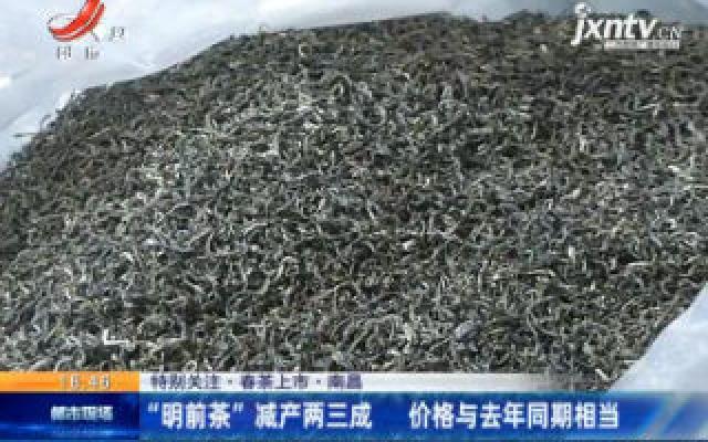 """【特别关注·春茶上市】南昌:""""明前茶""""减产两三成 价格与去年同期想当"""