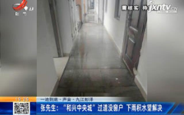 """【一追到底·声音】九江彭泽·张先生:""""和兴中央城""""过道没窗户 下雨积水望解决"""