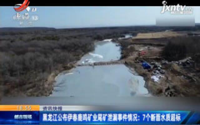 黑龙江公布伊春鹿鸣矿业尾矿泄露事件情况:7个断面水质超标