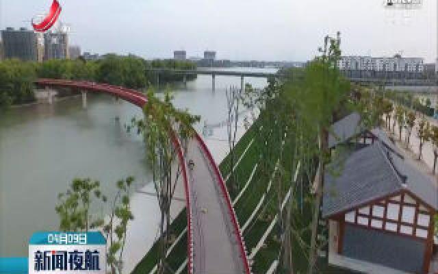 """抚州临川建成跨河""""彩虹""""观光桥"""
