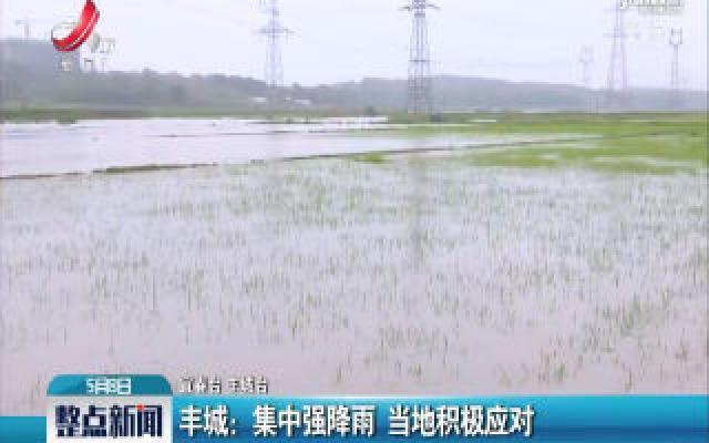 丰城:集中强降雨 当地积极应对