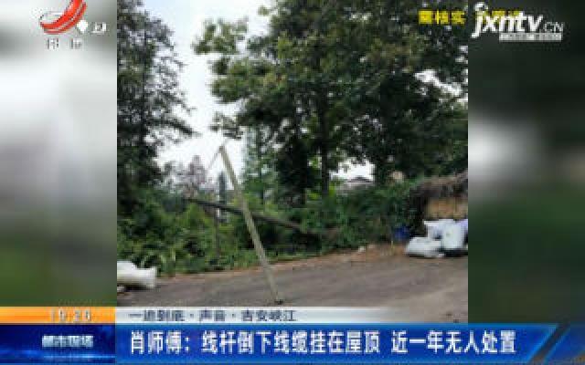 【一追到底·声音】吉安峡江·肖师傅:线杆倒下线缆挂在屋顶 近一年无人处置