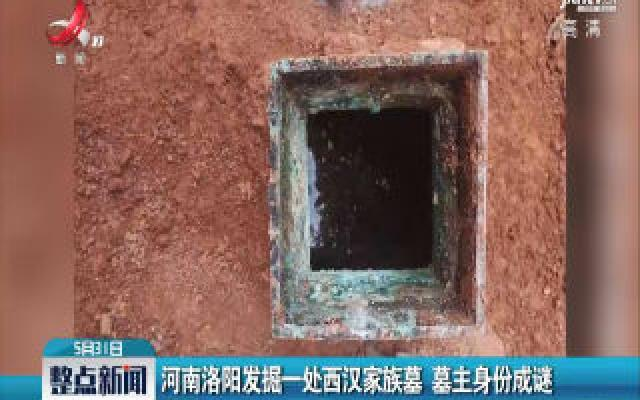 河南洛阳发掘一处西汉家族墓 墓主身份成谜