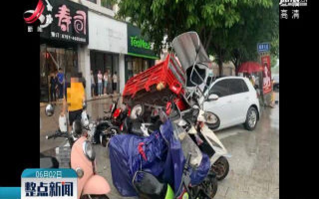 赣州:一口水惹祸 二轮车遭殃