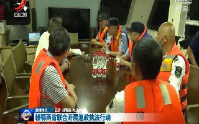 赣鄂两省联合开展渔政执法行动
