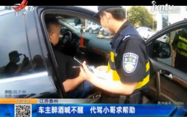 江苏泰州:车主醉酒喊不醒 代驾小哥求帮助