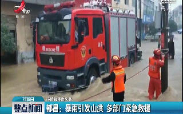 【持续强降雨来袭】都昌:暴雨引发山洪 多部门紧急救援