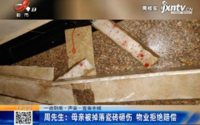 【一追到底·声音·宜春丰城】周先生:母亲被掉落瓷砖砸伤 物业拒绝赔偿