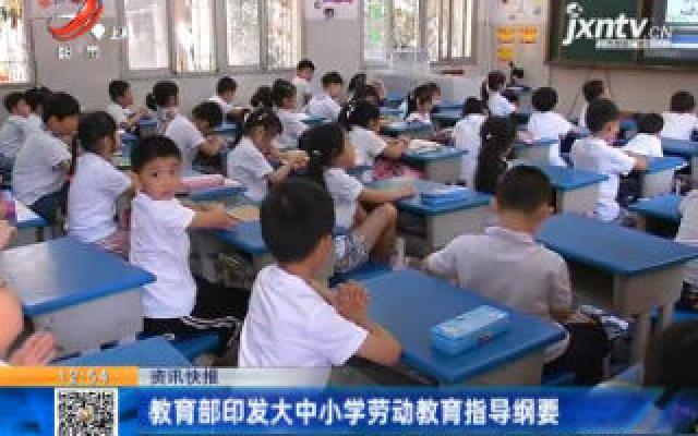 教育部印发大中小学劳动教育指导纲要