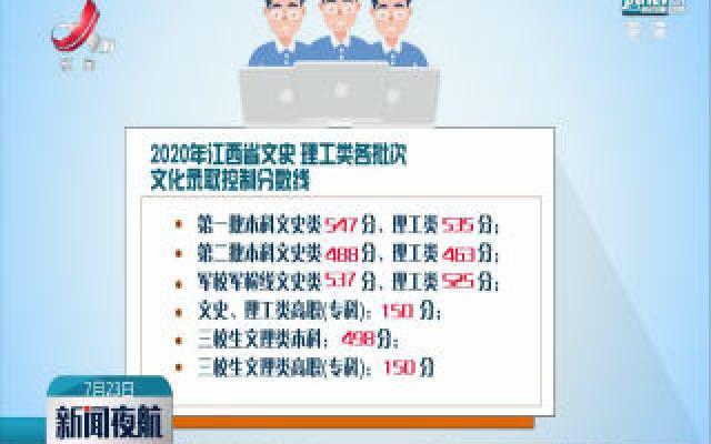 江西2020年高招录取分数线公布